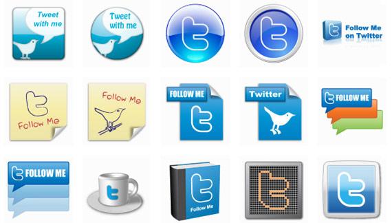 50 icônes Twitter