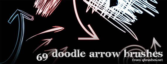 "69 brushes ""Doodle arrow"""