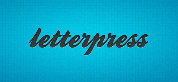 """Style """"letterpress"""""""