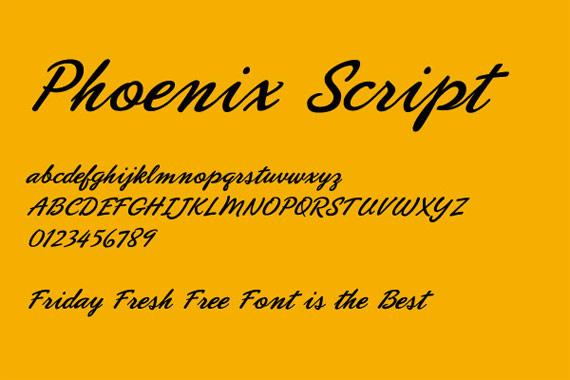 """Font """"Phoenix"""""""