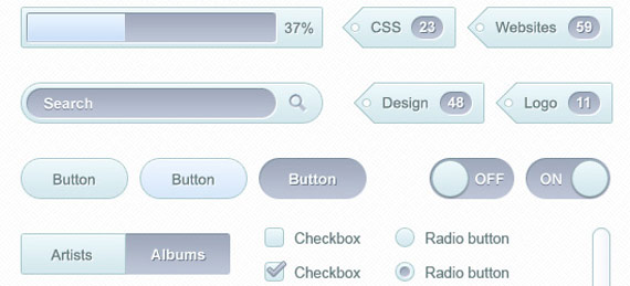 PSD kit interface utilisateur