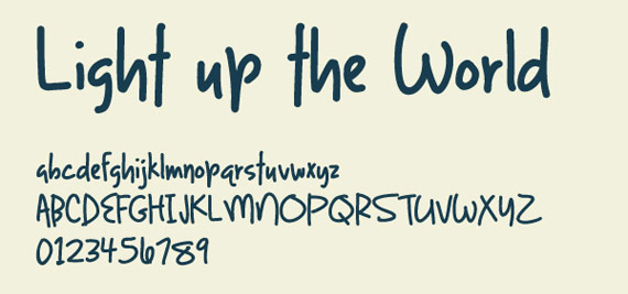 "Fonts ""light up the world"""