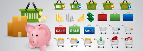 "PSD Icônes ""e-commerce"""