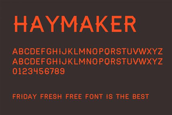 """Fonts """"Haymaker"""""""