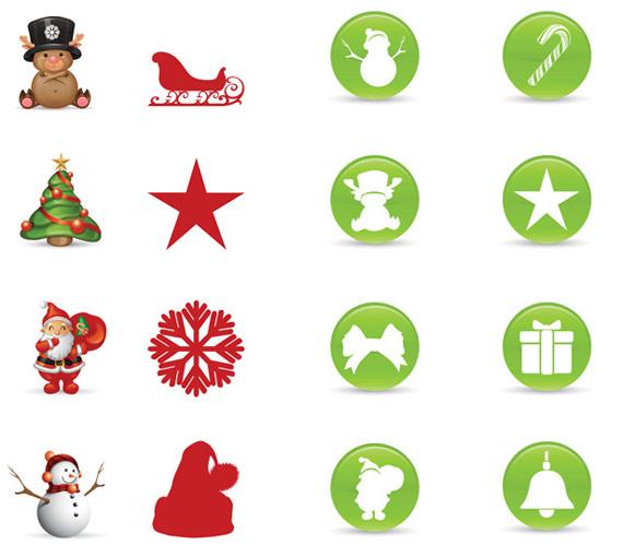 PSD icônes de Noël