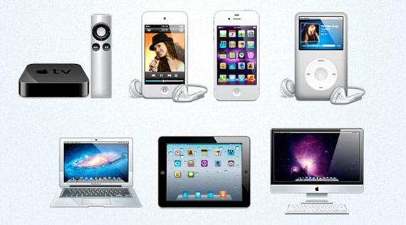 PSD icônes Apple