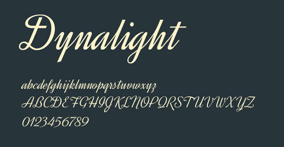 "Fonts ""Dynalight"""