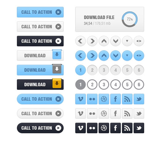 """PSD """"Balio Web UI Kit"""""""